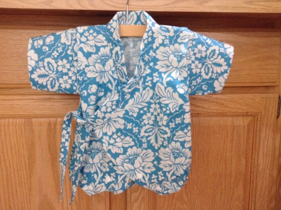 dc02a1341 Baby Flower Kimono Romper Baby Kimono Onesie Baby Kimono | Etsy