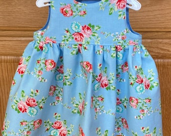 Preemie Flower Dress, Preemie Crocheted Sweater, 4-5 pounds, 6 pounds