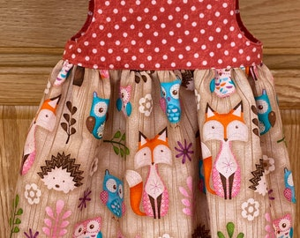 Preemie Girl Dress, Preemie Fox Dress, Preemie Polka Dot Dress, 4-5 pounds, 6 pounds