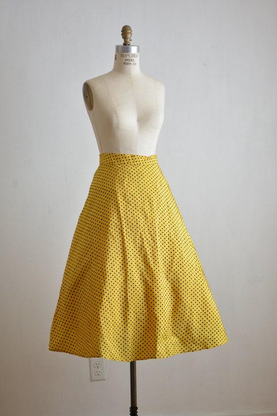Vintage mustard yellow circle skirt 1950's 1960's
