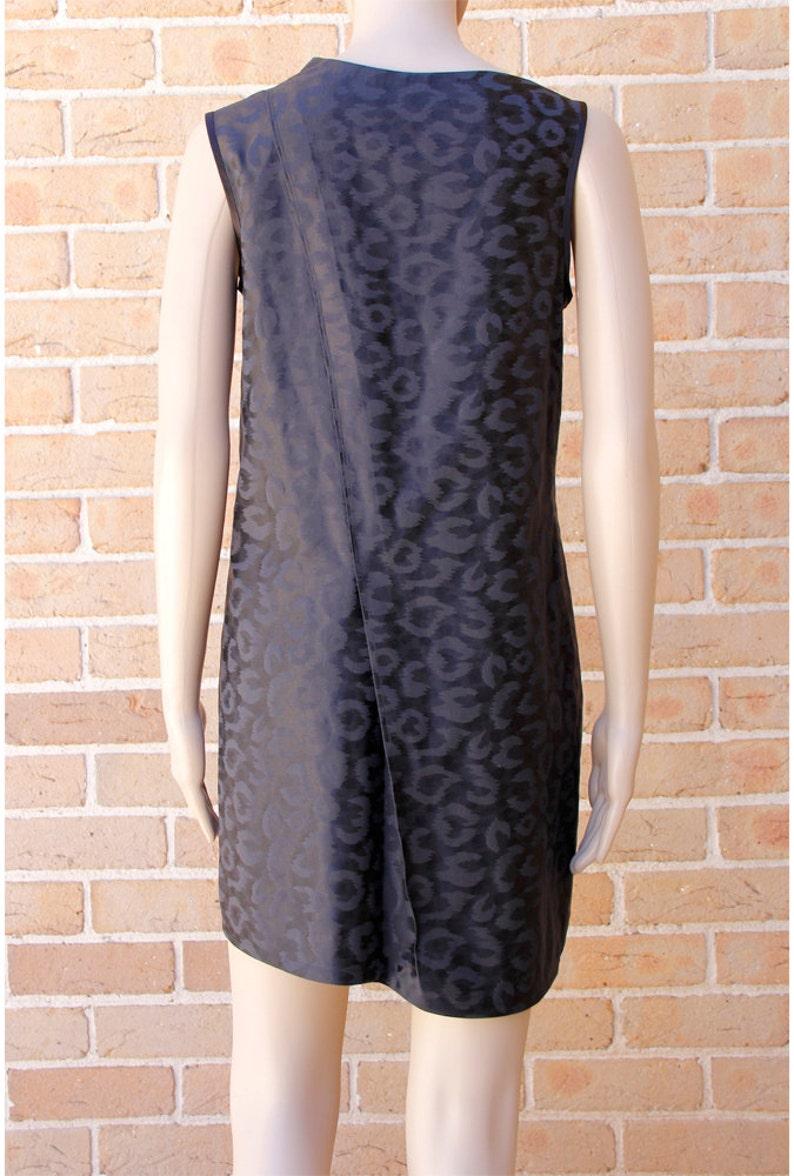 Black Pleated Print Silk DressVH1601DR2001BK