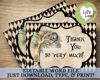 Your Wonderland Story Thank You Cards