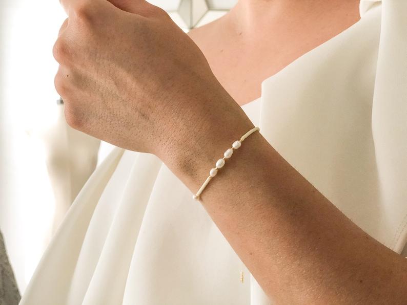 Freshwater Pearls,String Bracelet,Beaded Bracelet,Adjustable Bracelet,Jewelry Set,Friendship Bracelet,Gold Bracelet,Dainty Bracelet