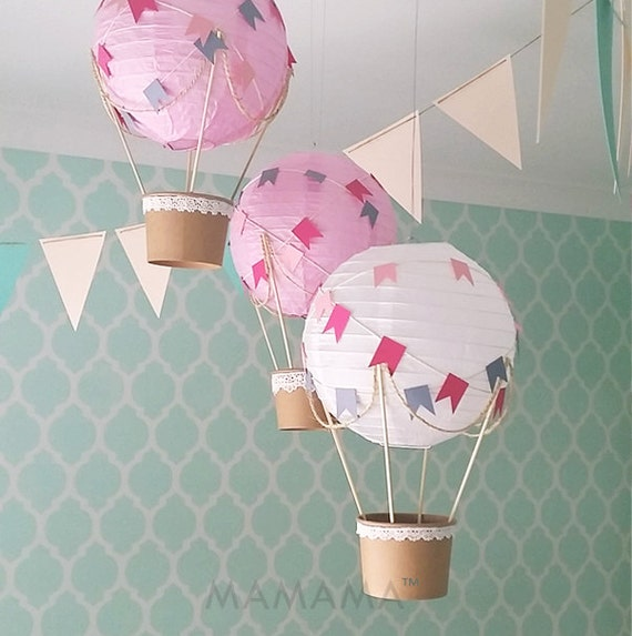 Skurrilen Heissluftballon Dekoration Diy Kit Kinderzimmer Etsy