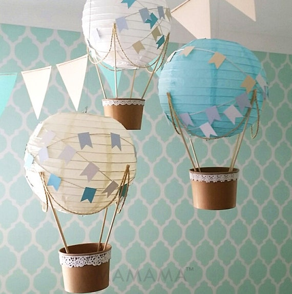 Whimsical Hot Air Balloon Decoration DIY Kit BABY BLUE Hot | Etsy