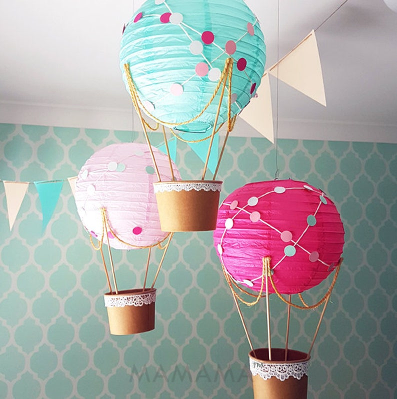 Whimsical Hot Air Balloon Decoration Diy Kit Nursery Decor Etsy