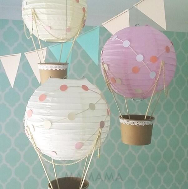 Whimsical Hot Air Balloon Decoration Diy Kit Nursery Decor Etsy