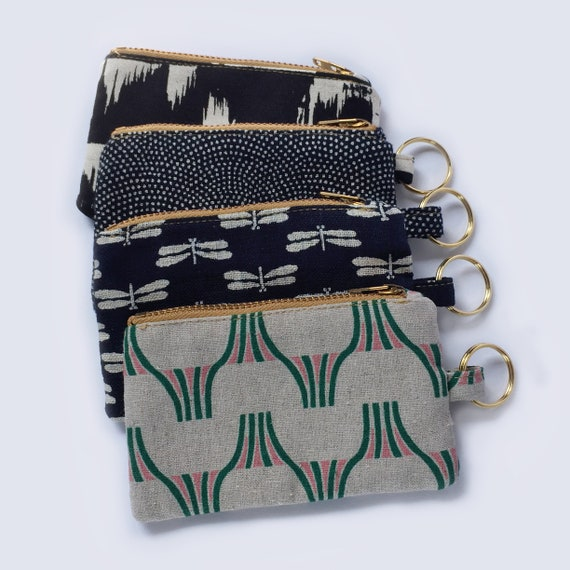 Zippered Coin Purse Wallet Card Card Bag Key Ring Keychain For Home Office Novel