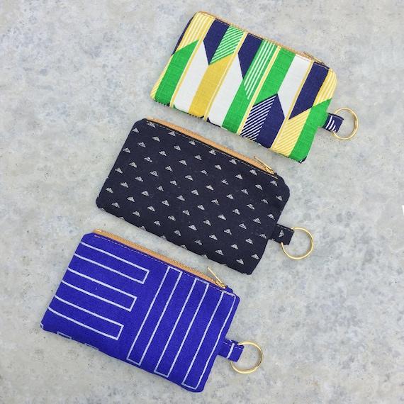 Key Holder Art Coin Purse Coin Purse Purple Art Art Pouch Art Wallet Card Holder Pouch Purse Wallet Lip Gloss Holder Zipper Pouch