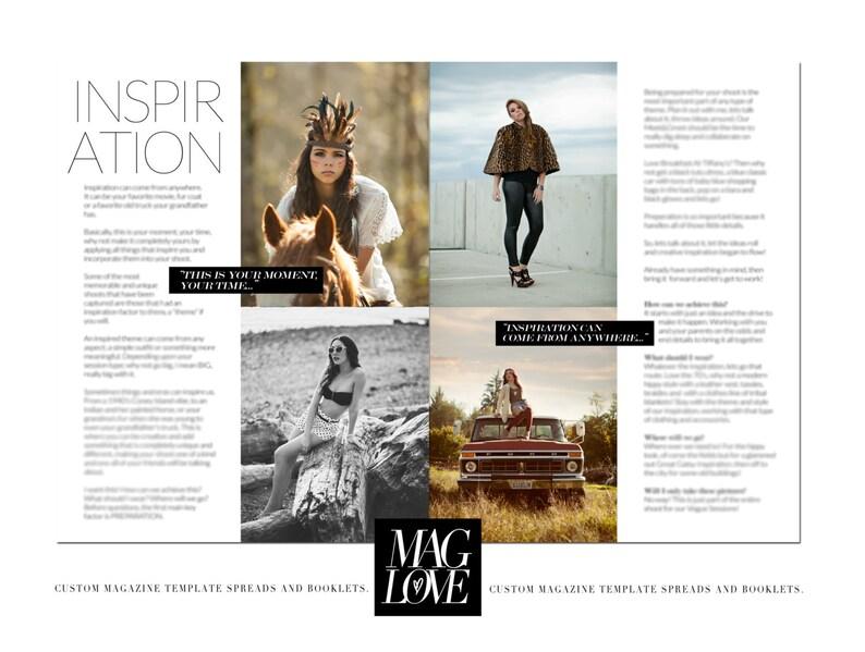 c7f881948de853 SALE Inspire Layout Article Magazine Spread Template   Etsy