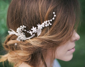 Wedding Hair Vine, Bridal Hair Wreath