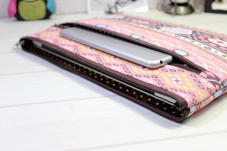 Macbook sleeve 12, Macbook Air case, 11 inch laptop case, ethnic laptop  sleeve, pink laptop pouch, zippered Macbook case, ethnic clutch bag