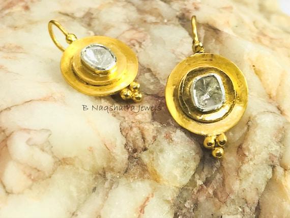Popular diamond polki /& Champangne diamonds 925 sterling silver pendant jewelry