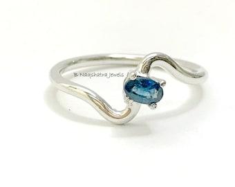 BLUE SAPPHIRE OVAL Ring ,Light Weight Ring ,September Birthstone,Promise Ring,Love Band,Gift for her.