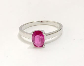 RUBY RING-Gift For her,Fine Jewelry, Red Ruby Gemstone , July birthstone.