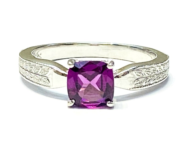 Rhodolite Garnet Ring  Pink Garnet Ring  January Birthstone image 0