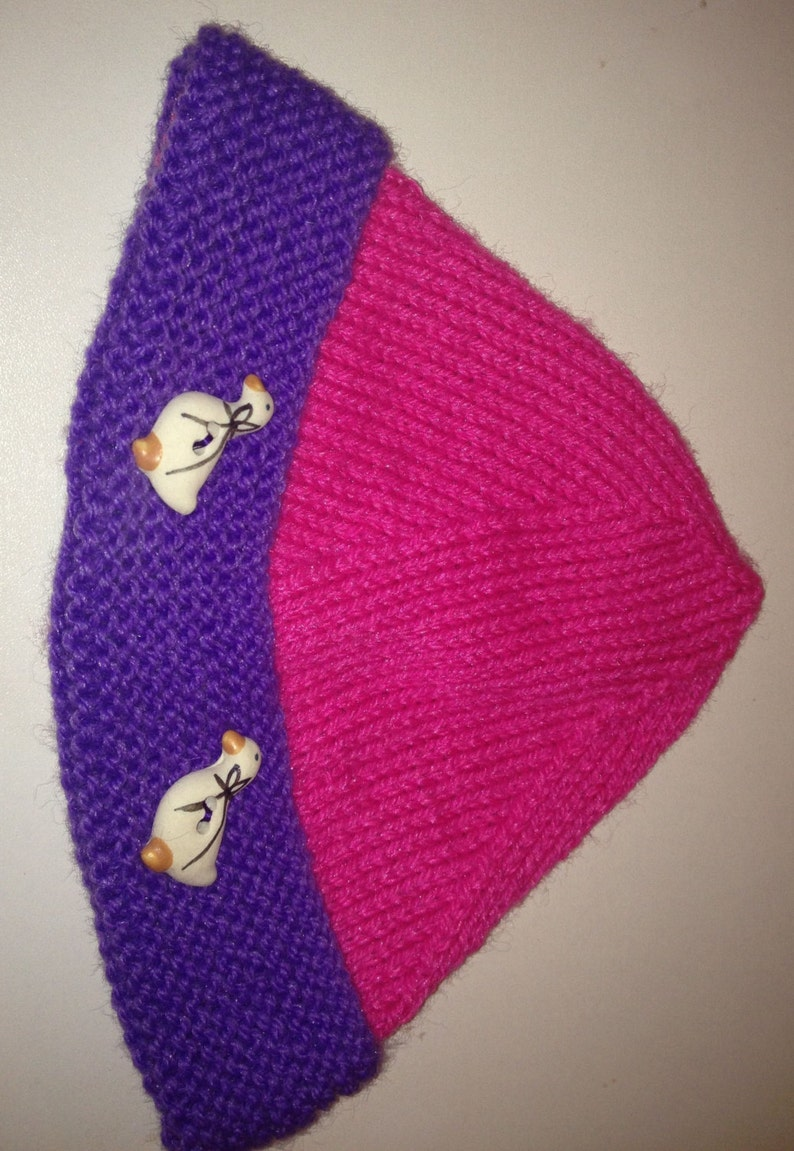 Soft wool hat for baby boy or girl
