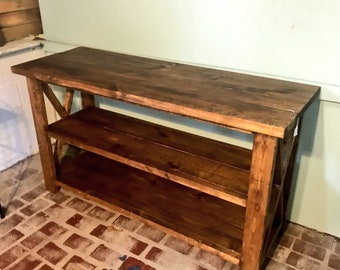 Exceptionnel Rustic Wooden Buffet Table, Rustic Console Table, Farmhouse Buffet Table,  Brown Walunt Stain, Light Walnut