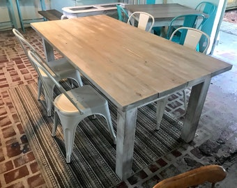 Farmhouse Table And Chairs Etsy