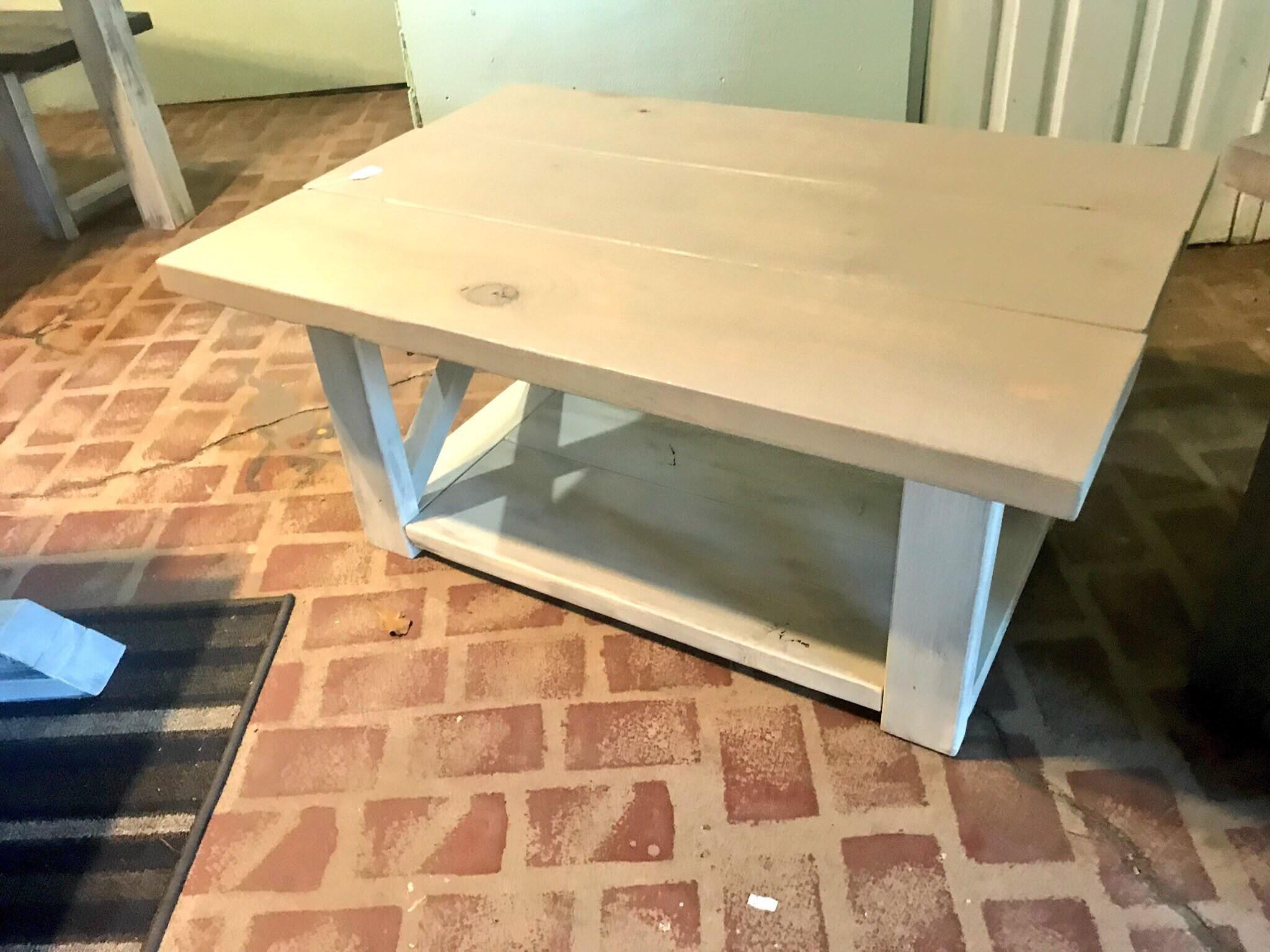 Marvelous Rustic Coffee With Shelf Table Criss Cross X Design Sun Machost Co Dining Chair Design Ideas Machostcouk