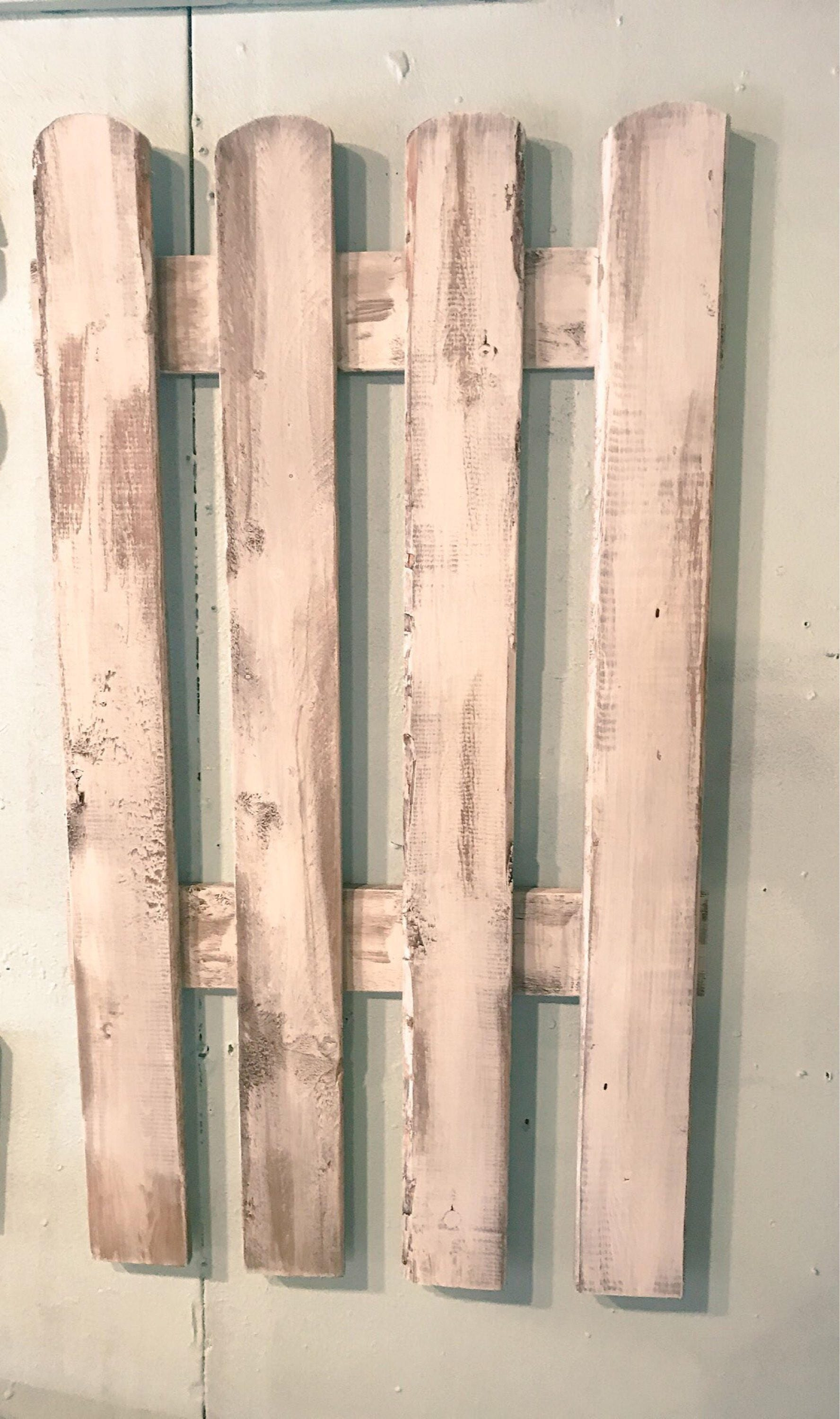 Picket Fence Farmhouse Wall Decor Large Wooden Vintage Wall