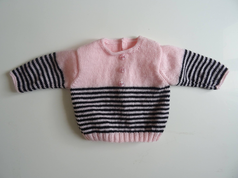 03ec22e80 Baby navy wear pink baby sweater birth gift knitting