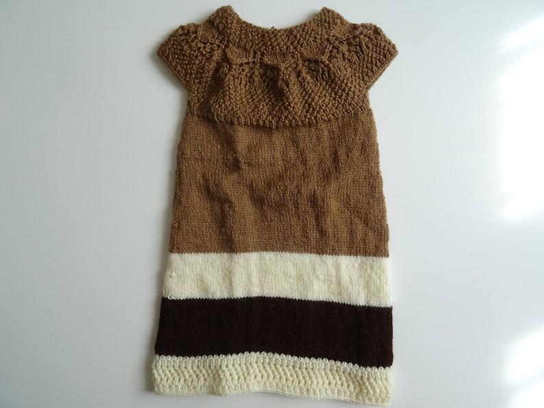 504f1d4a72653 Robe bébé tricot bébé vêtement bébé tricot fait main robe