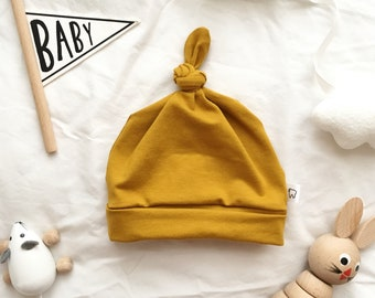 Mustard Baby Knot Hat 41c4d158ff20