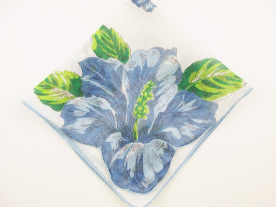 Gift Bouquets of Flowers White Background Ombre Blue Edge With Black Detailed Eyelet Collect