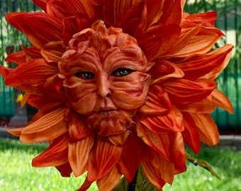 """Alice in Wonderland Talking flowers """"Fire Dahlia""""  ~ Sutherland For party props tea parties table decor vignettes"""