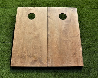 Cornhole Boards with a light stain with bags included|Fathers Day|Wedding Gift|Bag Toss|Corn Toss|Baggo|Lawn Games|Christmas Gifts|Birthday