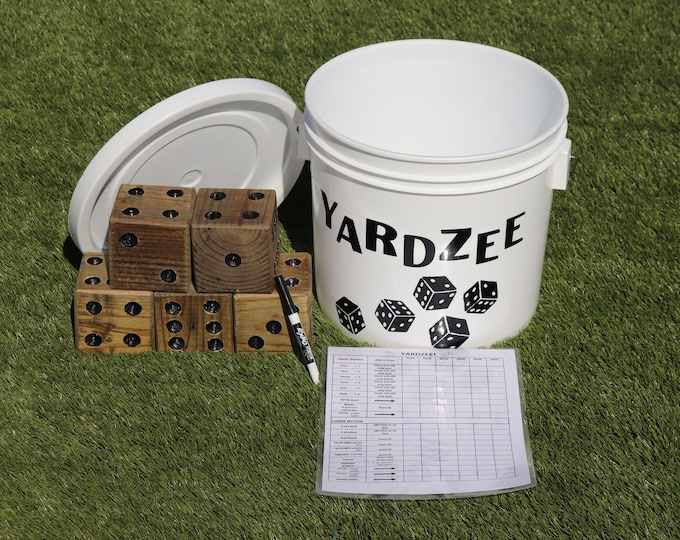 Yardzee Game with Bucket & Lid