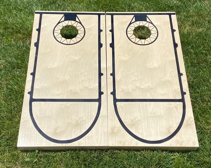 Regulation Cornhole Boards with Basketball Design w/bags included|Fathers Day|Wedding Gift|Bag Toss|Corn Toss|Baggo|Lawn Games|Christmas