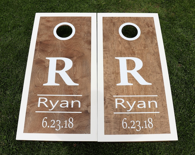 Wedding Cornhole Boards with 8 bags|Wedding Games|Bag Toss|Corn Toss|Baggo|Lawn Games|Wedding Party Gifts|Wedding Gifts|Regulation Size