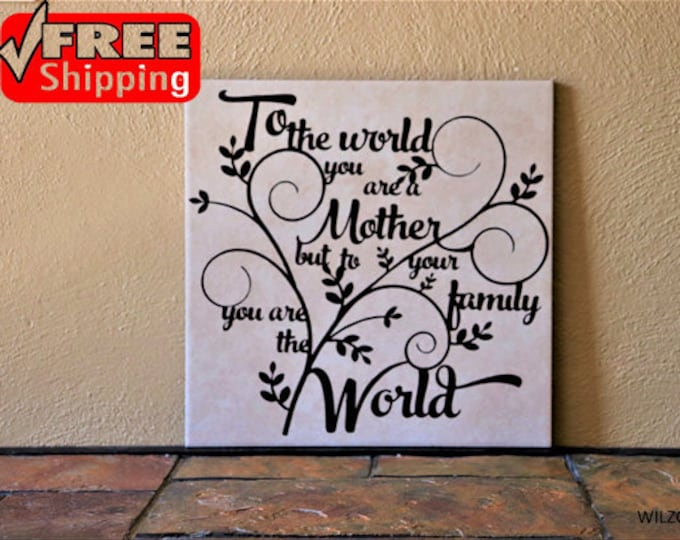Mother Day Ceremic Tile Gift