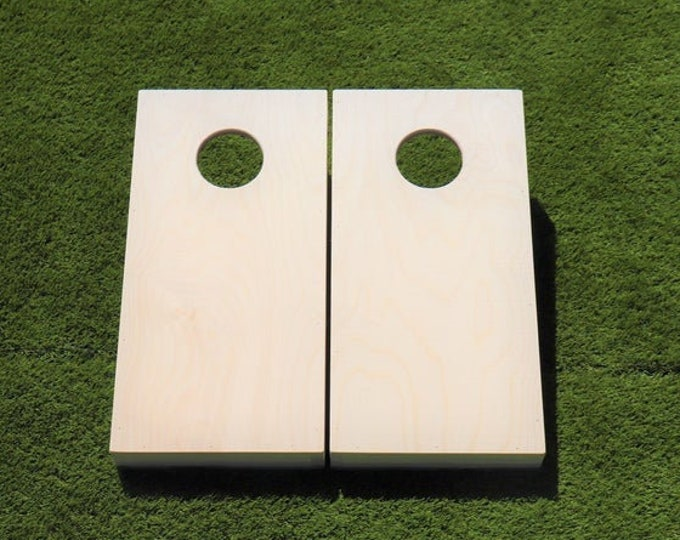 Unfinished mini/kids cornhole boards with bags included