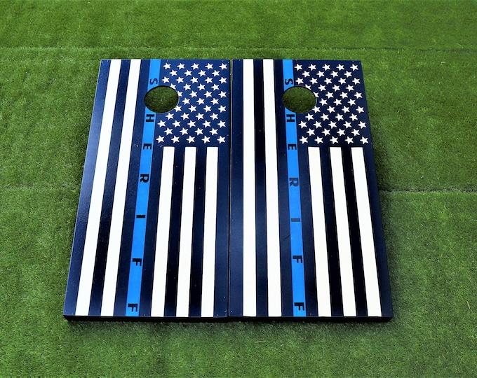 Thin Blue Line Cornhole Boards