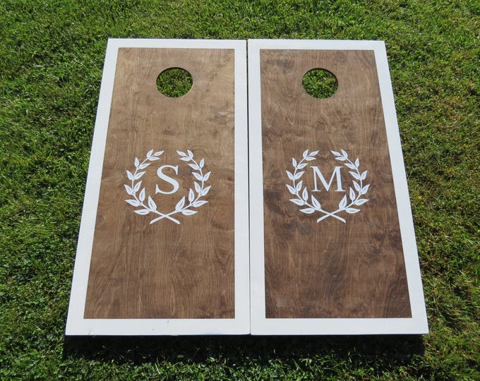 Wedding Cornhole Boards with 8 bag