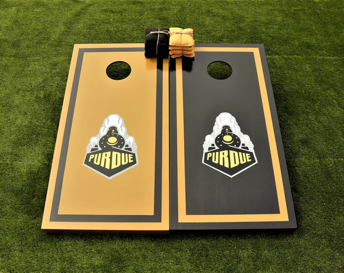 Purdue Cornhole Boards with Bags