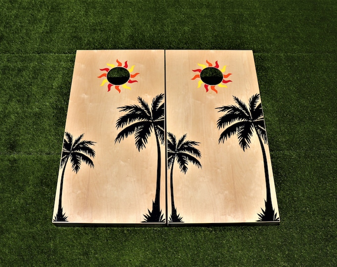 Custom Cornhole Boards with bags