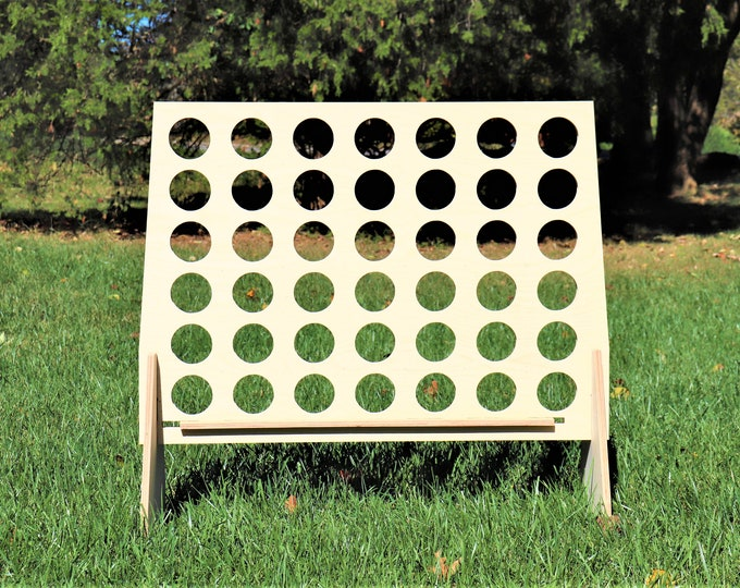 Giant Connect 4 Game with Discs|DIY|Unpainted|4 in a row|Connect 4|Kids Game|Wedding Game|Giant Four Game|Large Connect Four|Four in a row