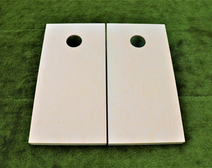 Plain Unfinished Cornhole Boards with 8 Bags