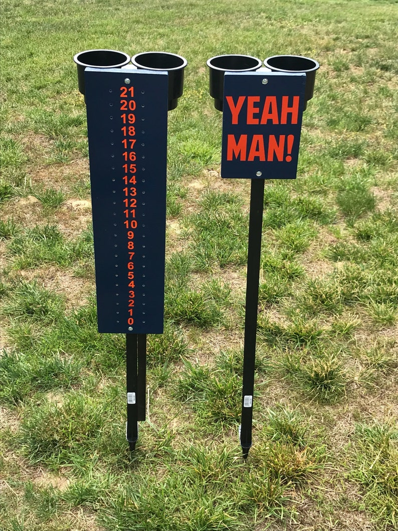 ADD ON DECAL Cornhole Lawn Games Fathers Day Bag toss Scoring stand Lawn Scoreboard Outdoor Games Birthday Gift Scorekeeper Drink Holder