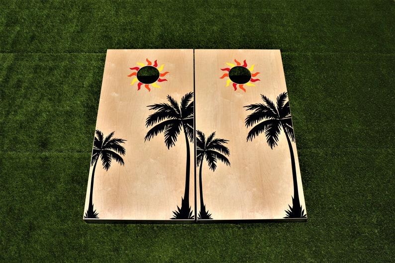Custom Cornhole Boards with bagsRegulation SizePersonalized image 0