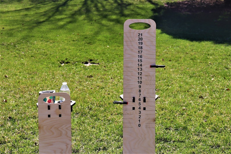 Cornhole Scoreboard with Beverage Holders-Set of 2Score image 0