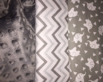 Personalized White Elephant Baby Blanket