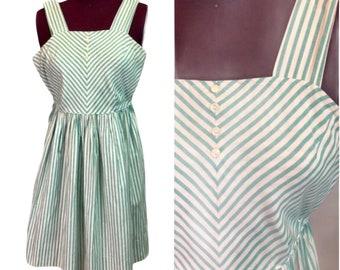 DAINTY PLAY DRESS Retro Striped Women/'s Extra Small