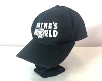 1375ee13ec8bb Authentic 90s WAYNES WORLD Baseball Hat w  Vlcro Sizing