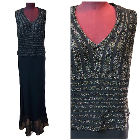 New Plus Size sz 18W Formfitting ELEGANT NAVY BLUE gown Navy Blue Gown Stretch knit Mother Of The Bride