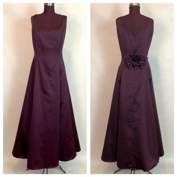 GUNNE SAX Plum Full Skirt Prom/ Bridesmaid gown Wo